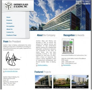 Gardner Glass and Glazing Website