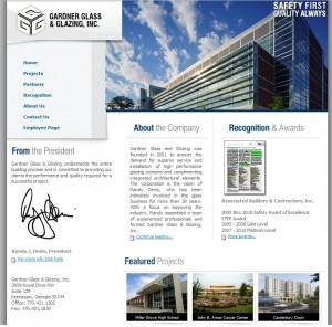 Gardner Glass and Glazing Website