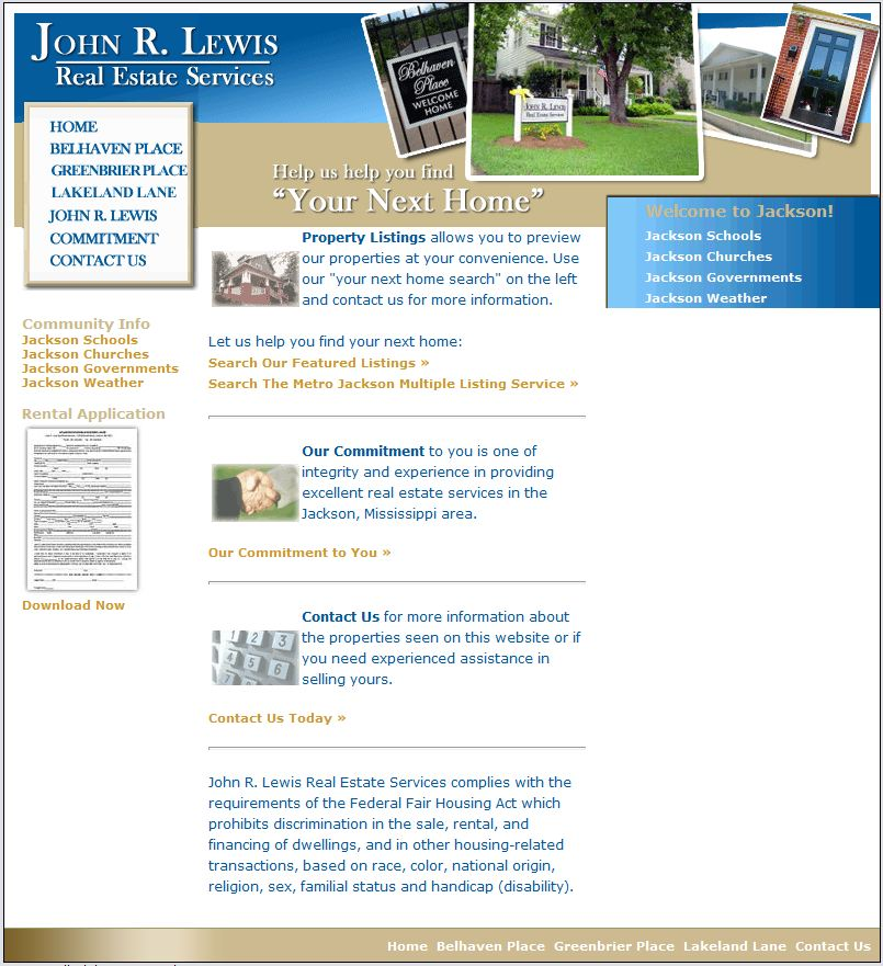John R Lewis Real Estate Website